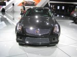 The mesh grille on the 2012 Cadillac CTS-V (V is for Velocity) has a purposeful look. You know it's no ordinary CTS. This wagon packs a 6.2L Eaton-supercharged V8 with 556 hp, and, at a $63,215, it's a relative bargain.