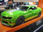 The 2012 Camaro Hot Wheels edition has wild lime green paint - just like the toy cars.