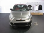 2012 Fiat 500 Abarth in silver. I like this silver exterior with red leather combination.