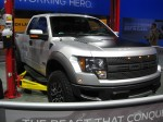 The 2012 Ford F-150 Raptor pickup truck. It screams macho and heavy.