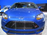 The 2012 Ford Focus ST has more aggressive front fascia.