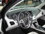 The 2012 GMC Terrain's interior is pretty much the same as the Chevy Equinox.