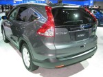 I had a chance to look more closely at Honda's new 2012 CR-V after the crowds died down on the 2nd day. I still think the rear looks awkward.