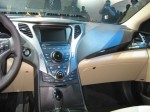 The 2012 Azera's plastics are softer and textured. The various tones are complimentary and visually interesting.