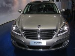 2012 Hyunda Equus. You won't see a Hyundai badge anywhere, only the Equus badge on the front and back. This top-line Ultimate edition is $65,750 - $30,000 less than a Mercedes.