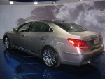 2012 Hyundai Equus rear.  Hyundai's flagship sedan bears more than a passing resemblance to the Mercedes-Benz S-Class.