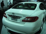 "2012 Infiniti M35h rear. The ""h"" is one of the only ways to tell this M from other Ms."