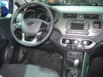 The interior of the 2012 Kia Rio SX doesn't feel too cheap or entry level. It's a nice upgrade for Kia's entry level model.