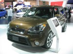 The 2012 Kia Soul ! has a base MSRP of $19,600. The fully-loaded model here was $23,200 including $750 destination, the $2,500 premium package and auto-dimming rear view mirror with compass and HomeLink. It's very well equipped for the price.