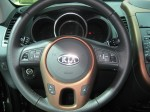 2012 Kia Soul ! steering wheel detail. It's a teriffic wheel for an entry-level CUV.