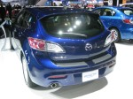 2012 Mazda3 i Grand Touring 5-door rear. I like the little hatchback better than the sedan. It too comes with Mazda's SkyActiv fuel saving technologies.