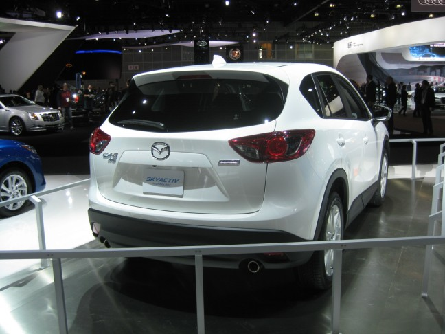 The all-new 2012 Mazda CX-5 CUV in white.