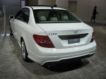 The 2012 Mercedes-Benz C250 rear. It's the first time Mercedes has imported a 4-cylinder engine to the US in more than a decade.