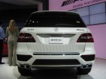 The 2012 Mercedes ML63 AMG has agressive new body fascia and the quad exhaust means business.