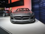 New for 2012 is the Mercedes SLS AMG Roadster. Fantastic low silhouette.