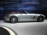 The red leather interior of the SLS AMG Roadster was beautiful - I didn't get a chance to run up on the stage to take pictures.