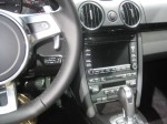 "The ""old"" look of the 2012 Porsche Cayman dash. A new Boxster and Cayman are coming sometime next year and it will look more like the 911 and Panamera interior for the new generation."