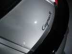 Detail of the rear badge for the 2012 Porsche Cayman R.