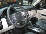The 2012 Range Rover Autobiography Supercharged interior is tall set above the Range Rover Sport.