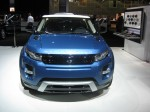 The 2-door Range Rover Evoque is stylish, striking in this color combination and expensive - around $50,000.