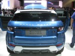 The white roof with the $950 Mauritius Blue Metallic body is striking on this 2012 Evoque Coupe.