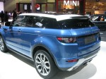 The signature Range Rover floating roof and distinctive styling will make the Evoque one hot SUV here in LA.