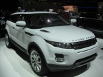 Here's a 2012 Range Rover Evoque Coupe in Fuji White.