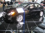 2012 Subaru Impreza sedan. It's all new for 2012, but not many people at the show seemed interested in it.