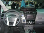 The 2012 Toyota Prius v has a slightly re-worked interior. It's still familiar Prius territory.