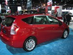 The 2012 Prius v shows its heft with its slab sides and squared-off roof line.
