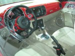 2012 VW Beetle 2.5 interior. The interior color matched to the exterior is a nice touch.