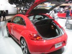 2012 VW Beetle Turbo hatch open. The roof line kills some cargo height, but overall it's fairly spacious.