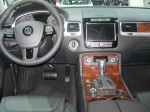 The 2012 VW Tourag TDI has an upscale interior and you can see its relation to its corporate cousin, the Porsche Cayenne. But the VW doesn't have the ambience of the Porsche.