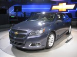 This is the new 'Bu. The 2012 Chevy Malibu. I know it's supposed to be much improved, but I was disappointed in the styling.