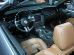 2013 Ford Mustang GT Convertible interior is a weak spot. It looks decent from a distance, but the plastics are hard and cheap and the center stack is out of place in a car costing $35,000 (or more).