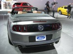 I like this gun metal gray color on this 2013 Ford Mustang Convertible. I like the way the taillights are darkened and integrated into the rear panels.