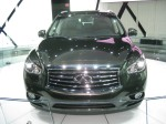 2013 Infiniti JX35 SUV front. I think the nose looks too bulbous to my eye.