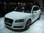 Anther tese from Audi. Here we have the yet-to-be-available A3 e-tron. It's a pure electric vehicle.