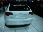 Another view of the Audi A3 e-tron. Familiar shape, different drive.