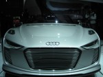 The Audi e-tron Spyder is stunning from any angle. It has an electric motor in each wheel hub.