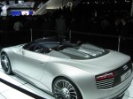 And yet another picture of the Audi e-tron Spyder Concept. LA rich eco-drivers would  suck these up for breakfast.