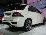 A side view of the 2012 Mercedes-Benz ML63 AMG SUV.