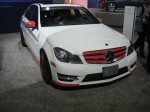 A Mercedes C-class car from the Mercedes-Benz Driving Academy  that just opened a branch in Los Angeles.