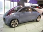 The Mitsubishi iMiEV has a wild shape - sort of like a stylized New Beetle.