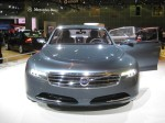 The only thing interesting or new at the Volvo booth was the Concept You flagship sedan.