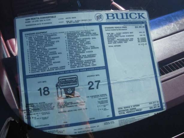 Buick Reatta Convertible Buick Reatta Convertible