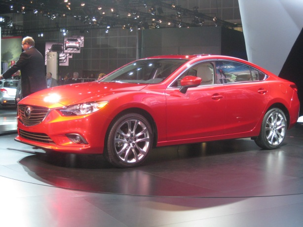 The 2014 Mazda6 with SkyActiv-D technology.  It should be available by mid-2013.