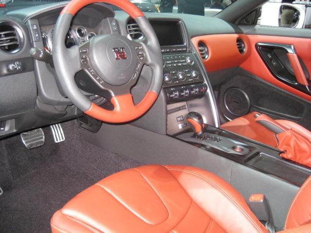 2014 Nissan GT-R interior. Still nice. Still six digits.