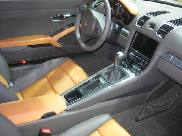The interior of the 2013 Cayman is nearly identical to the Boxster - which is a good thing.