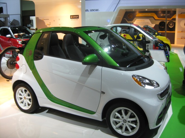 2013 smart fortwo ED (electric drive) coupe. Base price $25,750.